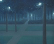 Nocturne au parc Royal de Bruxelles, par William Degouve de Nuncques