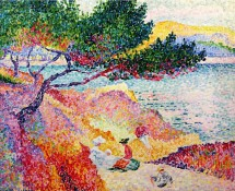 La Plage de Saint-Clair, par Henri-Edmond Cross