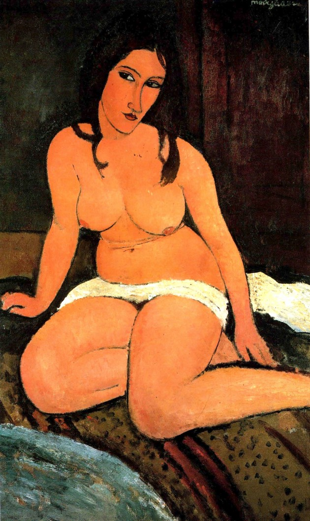 Nu assis, par Amedeo Modigliani